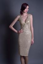 Золотое платье с пайетками