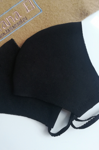 Черная многоразовая маска
