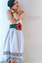 Белый сарафан-юбка