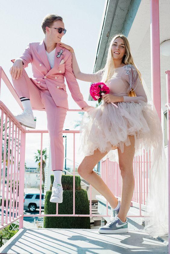 Необычный свадебный наряд